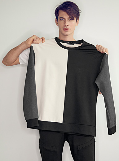 Monochrome block sweatshirt