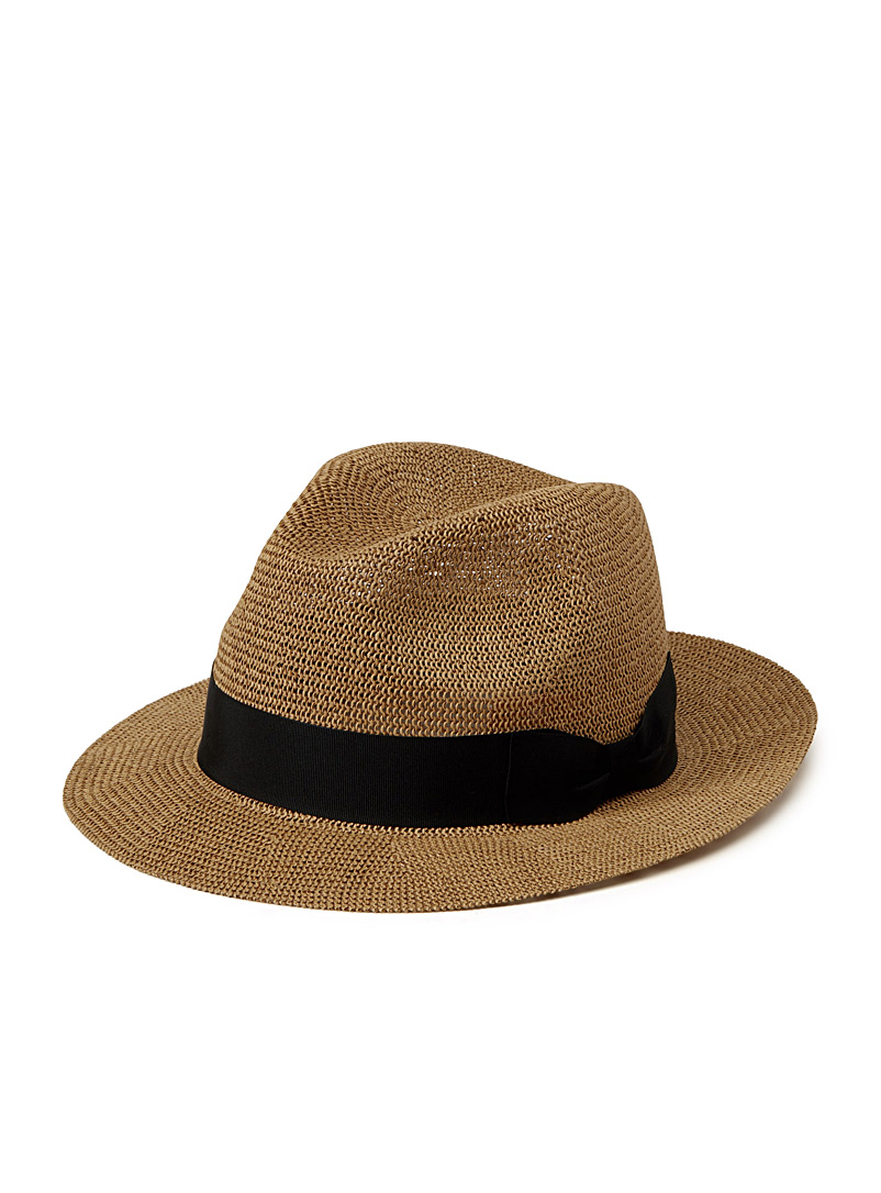 Straw fedora - Hats - Brown