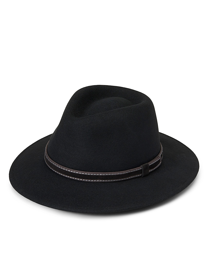 Ear flap fedora - Hats - Black