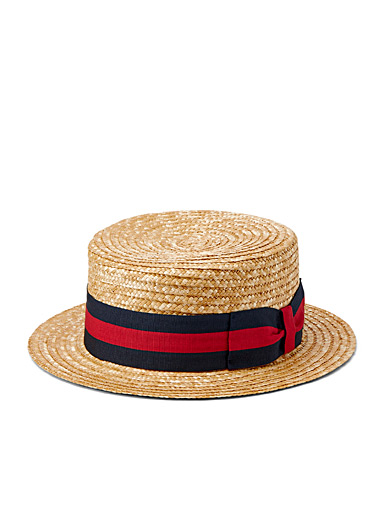 Striped band authentic boater