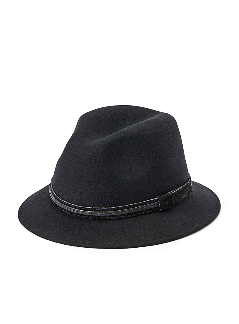 Waterproof monochrome felt fedora