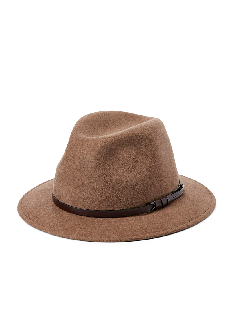 Waterproof felt fedora