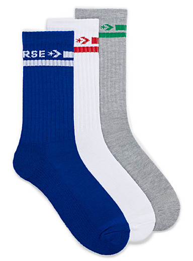 Accent logo ribbed sock 3-pack