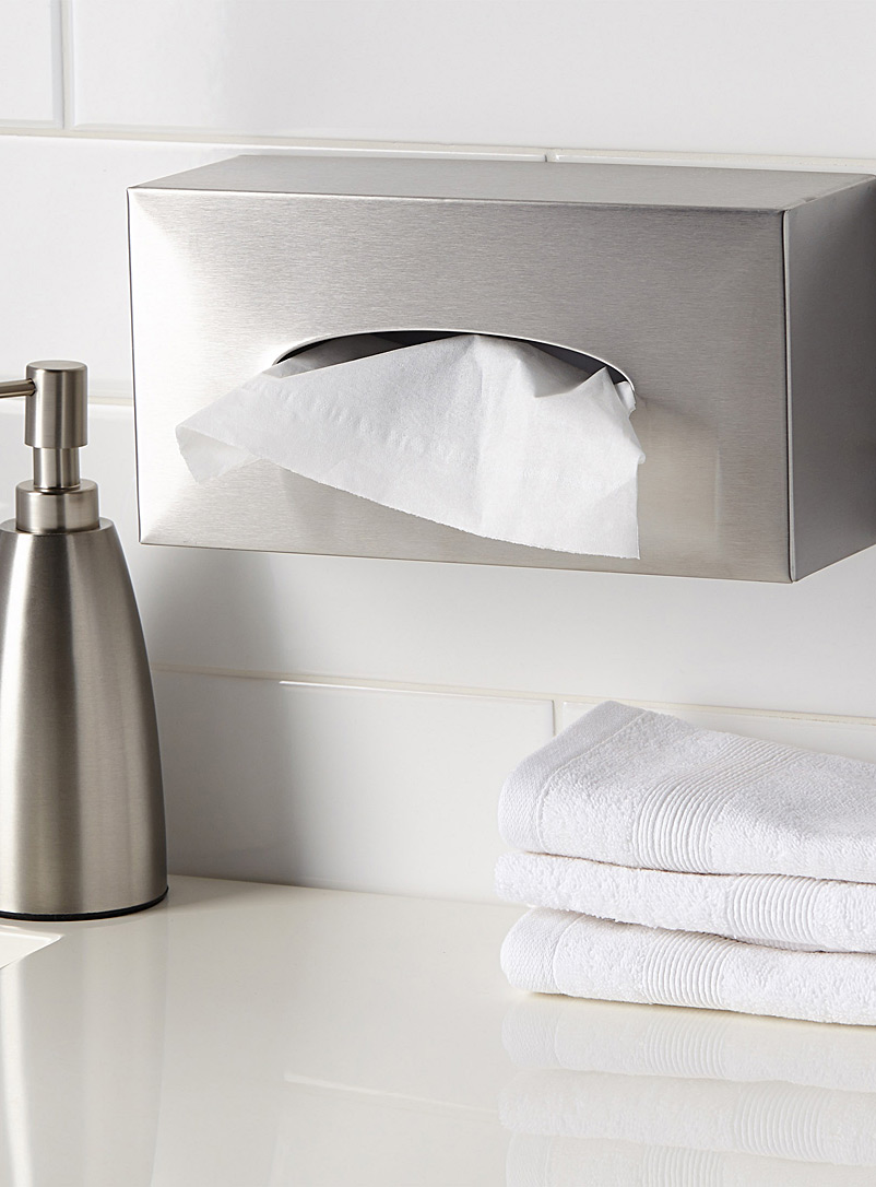 Stainless steel tissue box - Accessories & Wastebaskets - Assorted