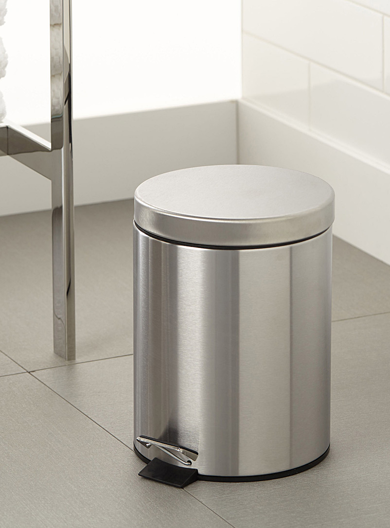 Simons Maison Assorted Stainless steel wastebasket with cover
