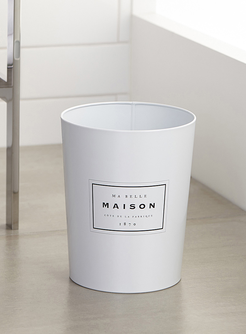Belle maison wastebasket - Accessories & Wastebaskets - White