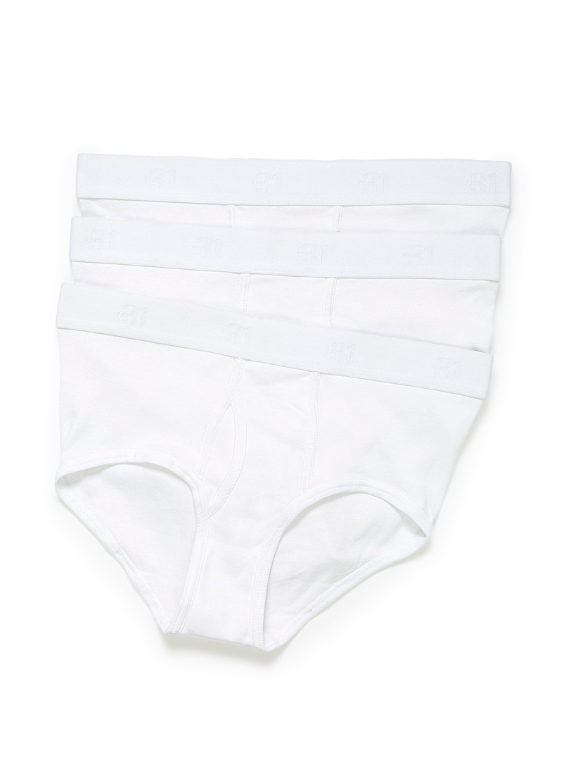 Solid organic cotton briefs  3-pack