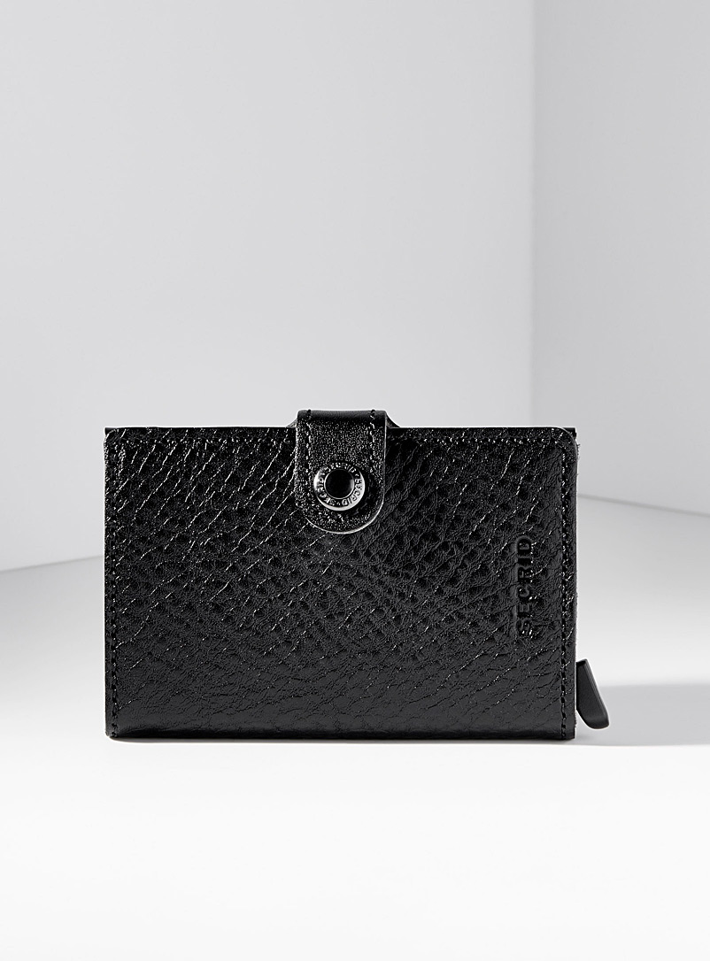 Elegant pebbled leather miniwallet
