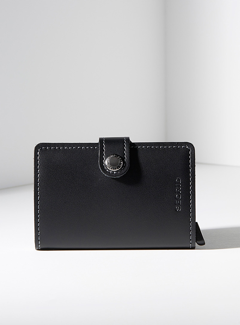 Original smooth leather miniwallet - Wallets - Black