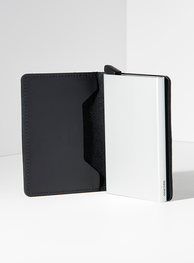 Original black leather miniwallet - Wallets - Black