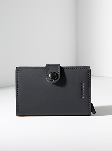 Secrid Black Solid matte miniwallet for men