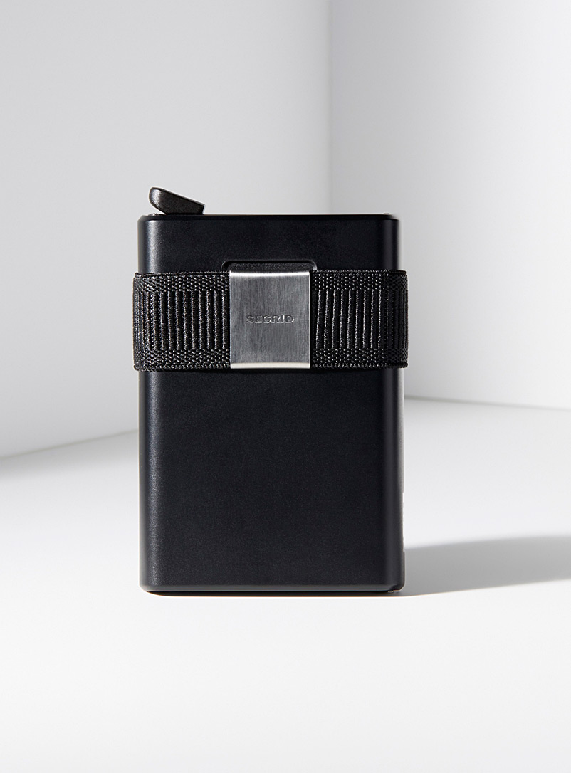 Secrid Black Sliding wallet for men