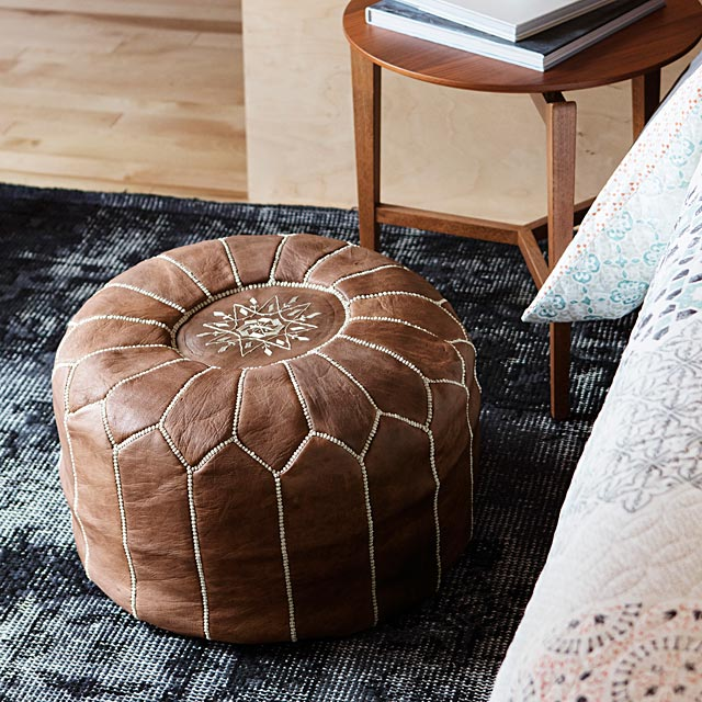 moroccan-leather-pouf