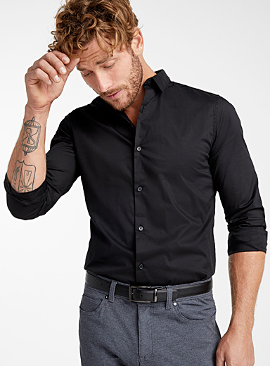 Solid stretch shirt  Slim fit