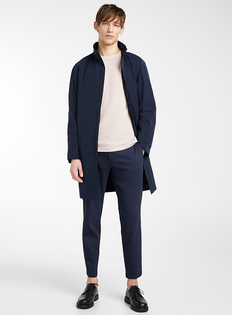 Theory Marine Blue Taimo coat for men
