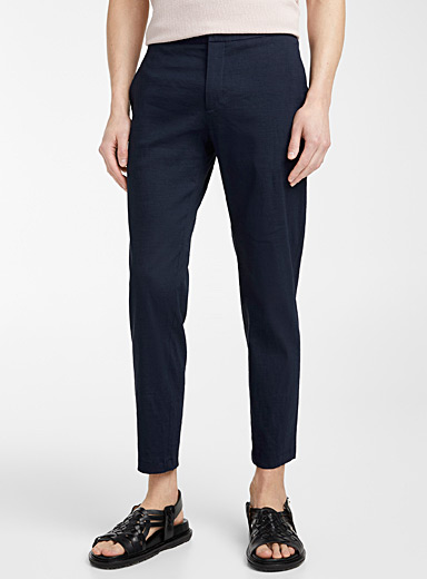 Theory Marine Blue Curtis Eco Crunch pant for men