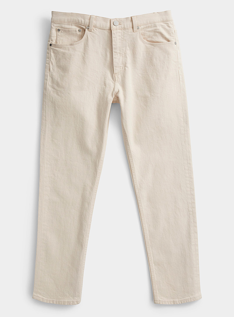 Theory Ivory White Hader beige jean for men