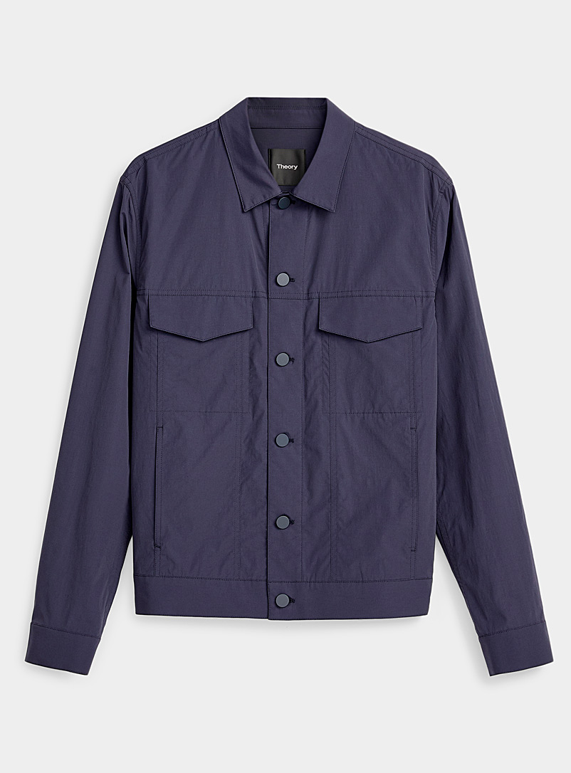 Theory Marine Blue Minimalist jacket for men