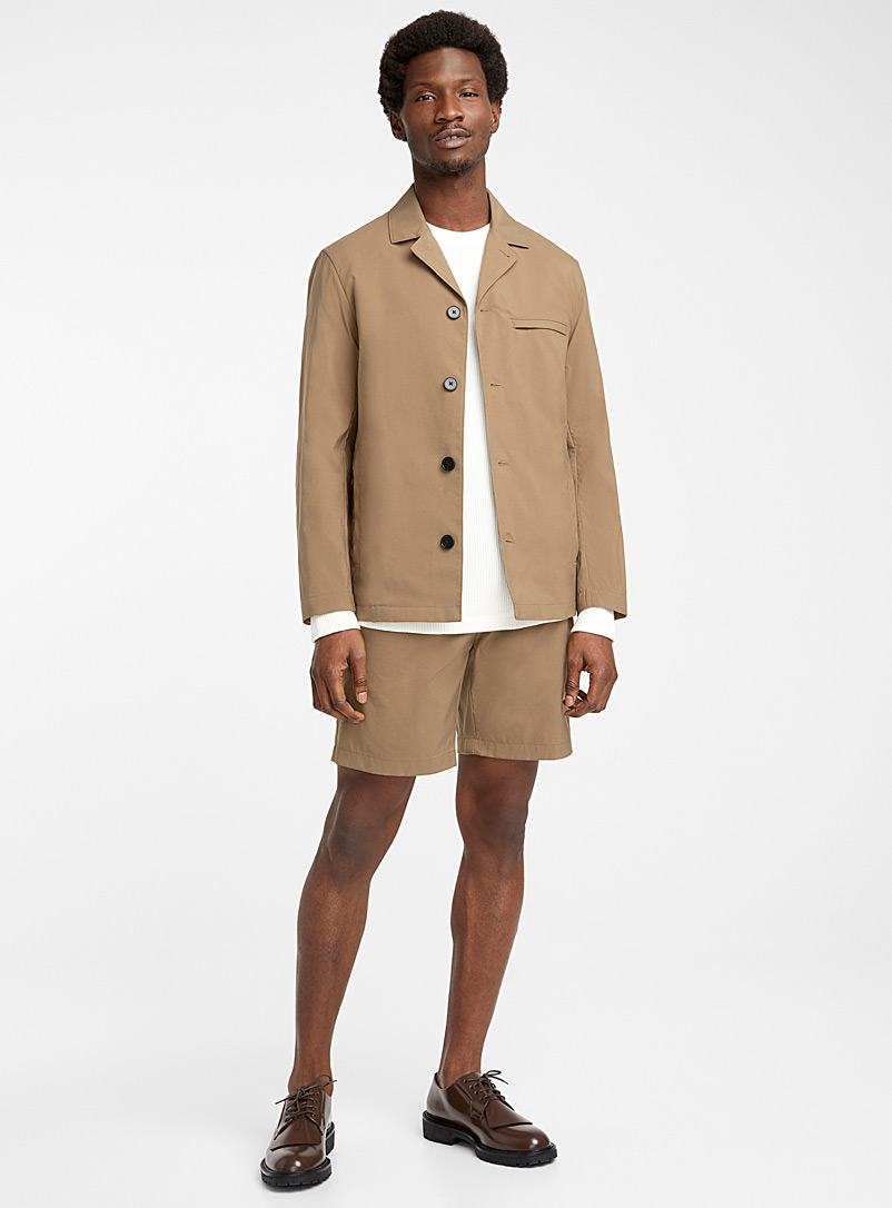 Theory Cream Beige Maxwell jacket for men