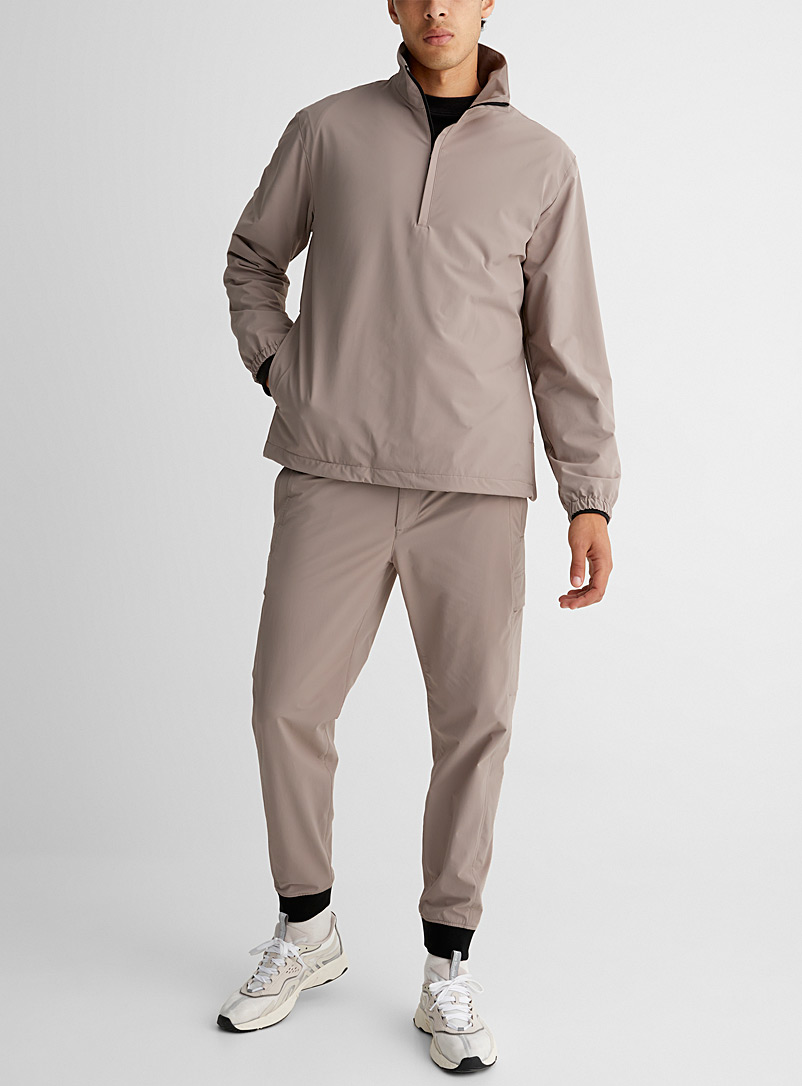 Theory: L'anorak col montant Kylan Brun pâle-taupe pour homme