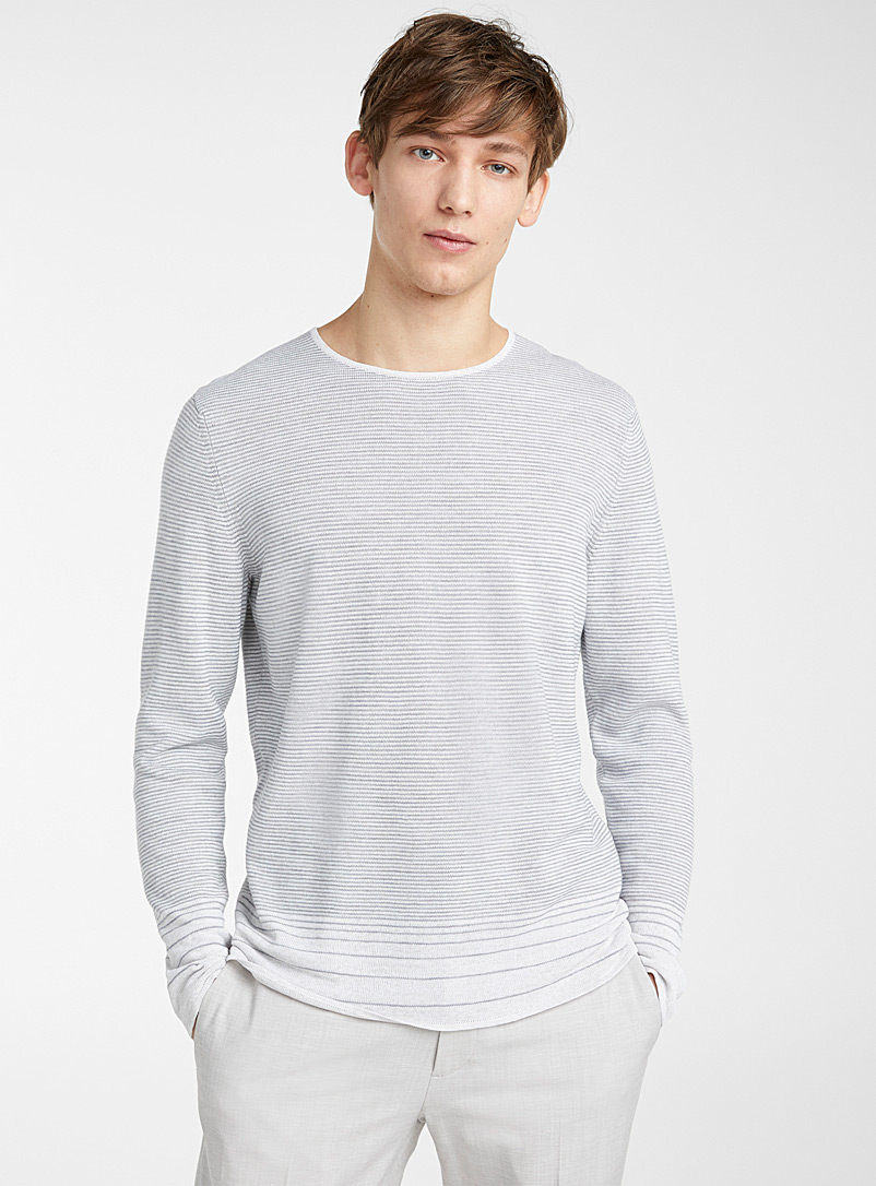 Theory: Le pull Guinard Gris pour homme
