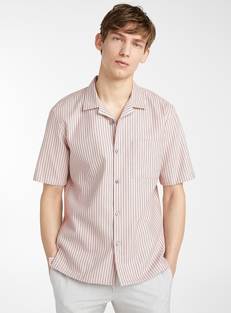 Theory Pink Daze shirt for men