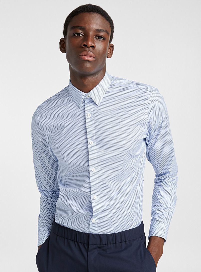 Irving Wave shirt - Theory - Blue