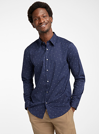 Theory Baby Blue Irving Frosti shirt for men