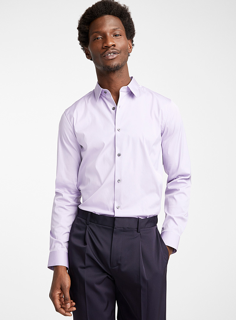 Theory Lilacs Vervain shirt for men