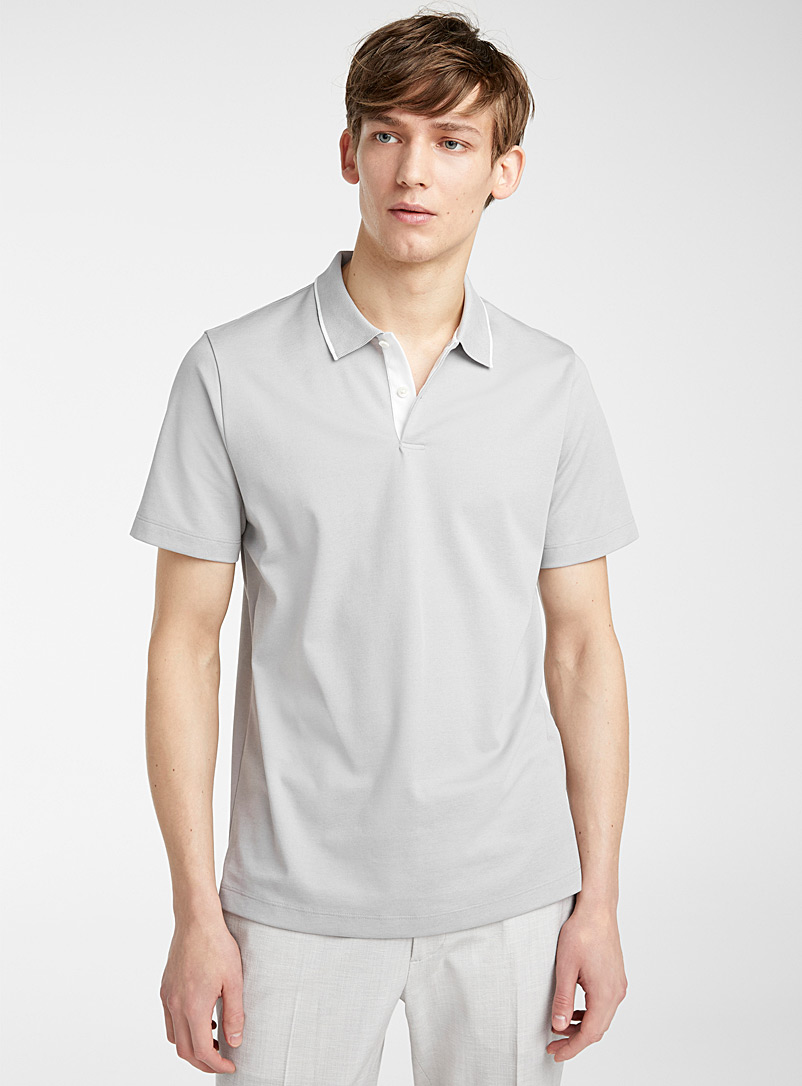 Theory: Le polo Standard Gris pour homme
