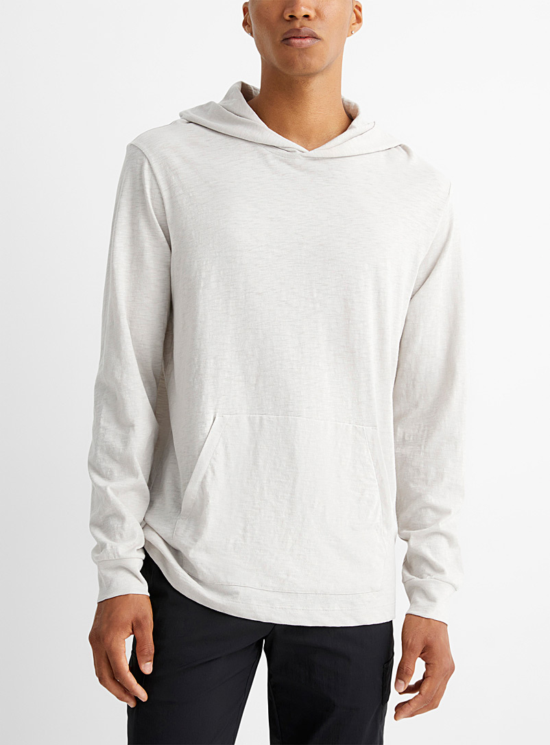 Theory Grey Light cotton hoodie for men