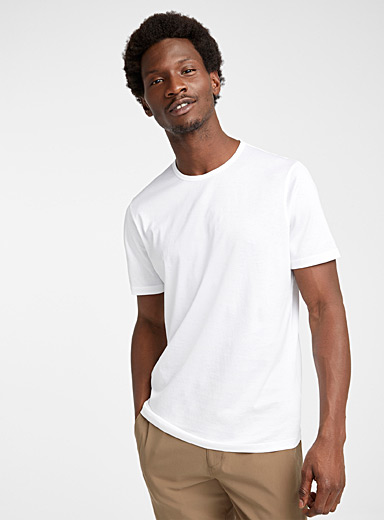 Theory White Solid Precise T-shirt for men