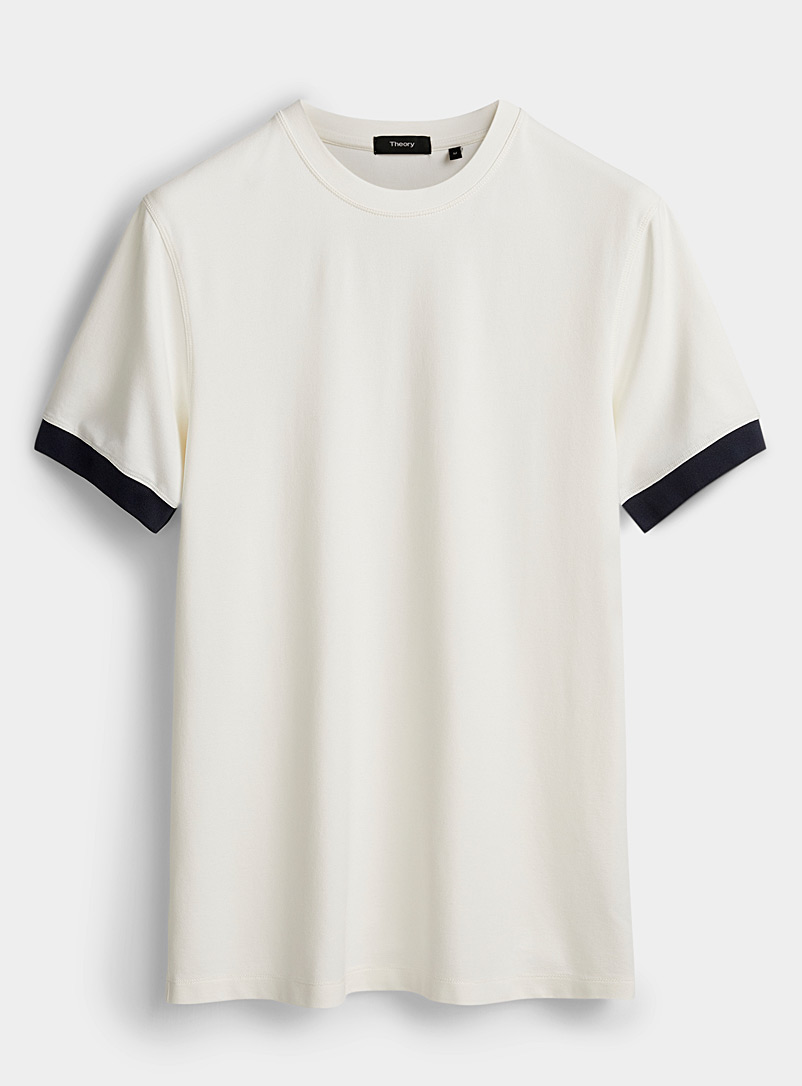 Theory White Ace T-shirt for men