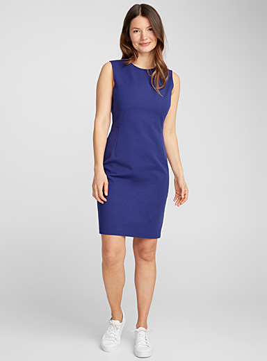 Navy blue fitted dress