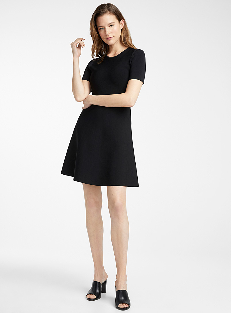 Theory Black Minimalist A-line dress for women