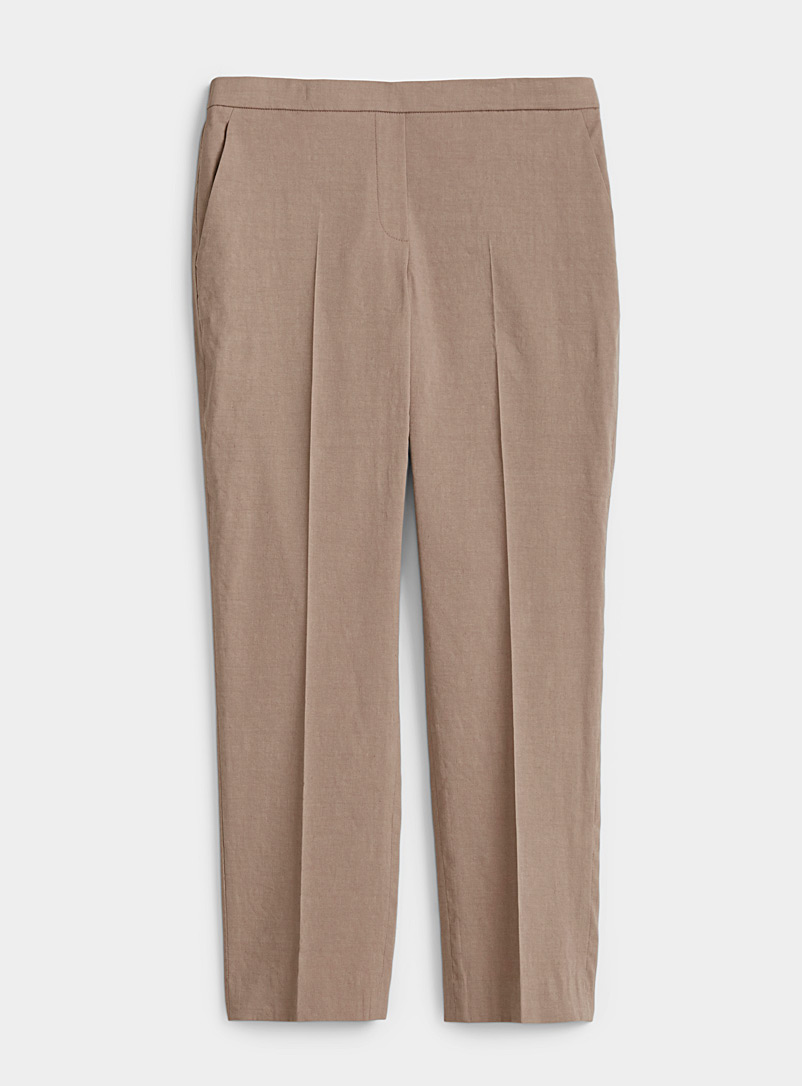 Theory Fawn Organic linen slim pant for women