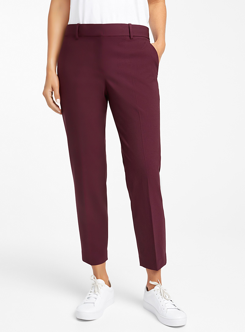 Le pantalon droit bordeaux - Collections - Rouge moyen-framboi-ceris