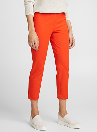 Orange-red semi-slim pant