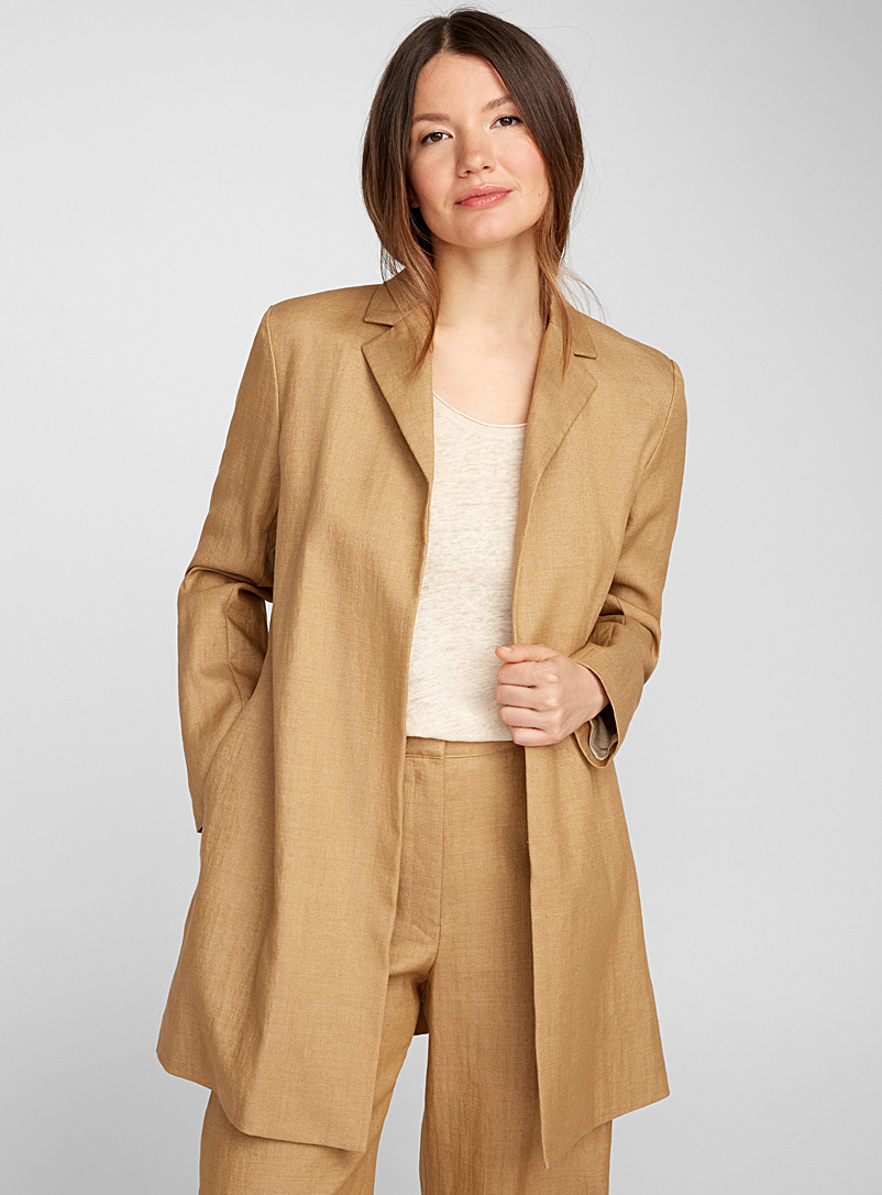 Minimalist caramel jacket - Collections - Cream Beige