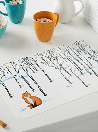 Little fox place mat