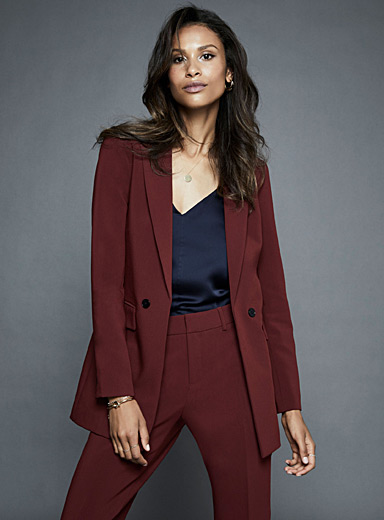 Two-button longline jacket