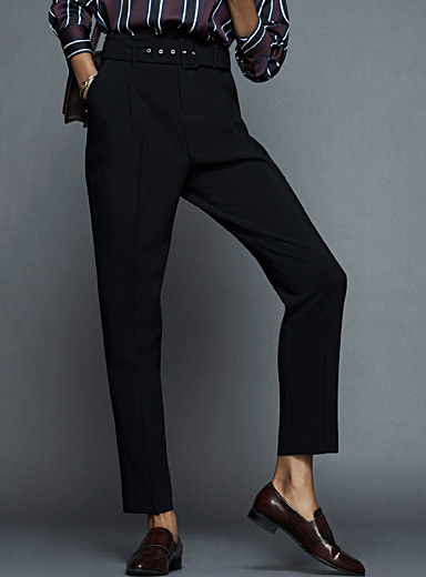 Belted darted pant