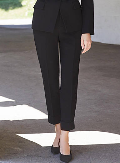 Semi-slim cuffed ankle pant