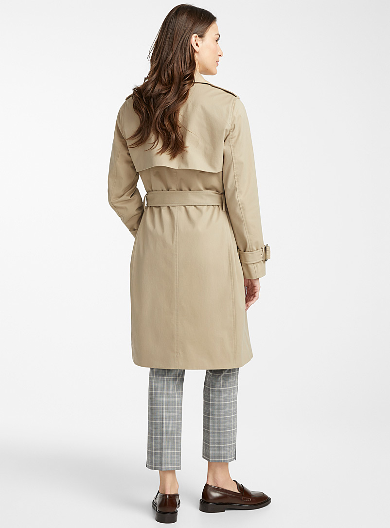 Contemporaine Fawn Belted cotton trench coat for women