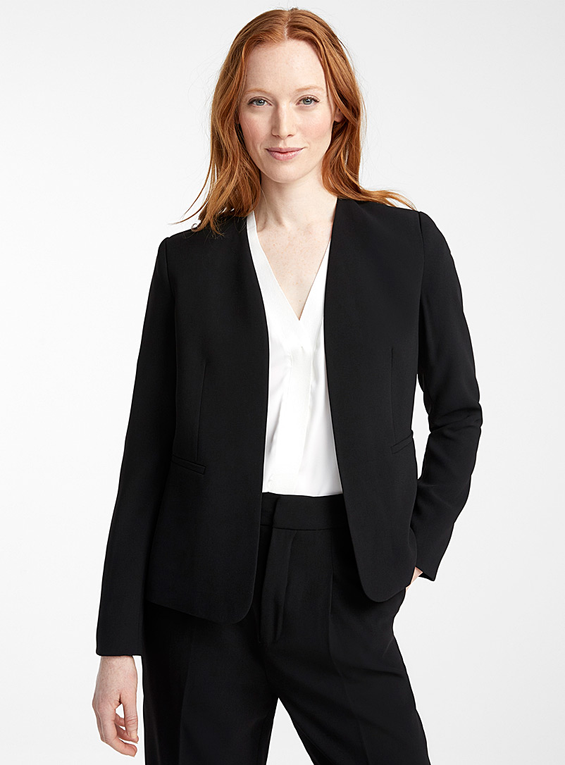 Contemporaine Black Fluid open jacket for women