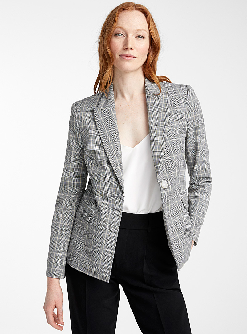 Contemporaine Patterned Black Timeless check jacket for women
