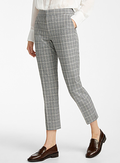 Contemporaine Patterned Black Timeless check pant for women