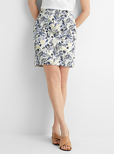Lush garden cotton sateen skort