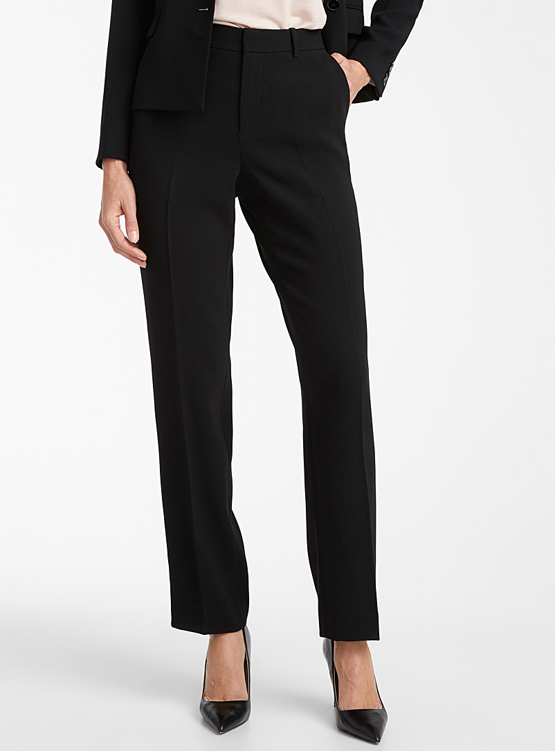 Contemporaine Black Fluid straight pant for women