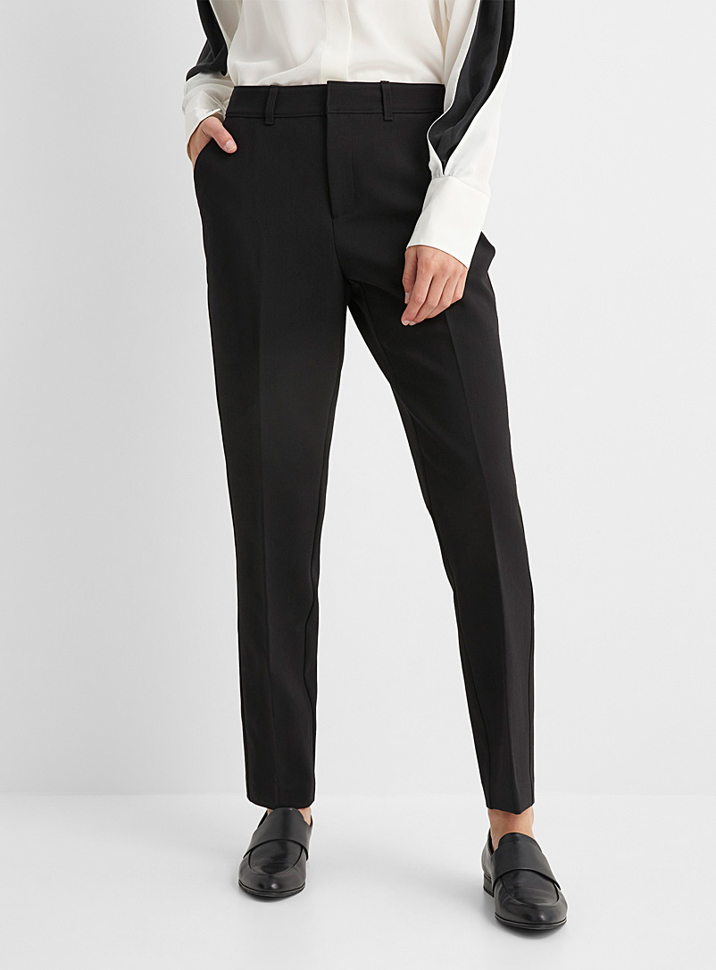 Side-ribbed semi-slim pant